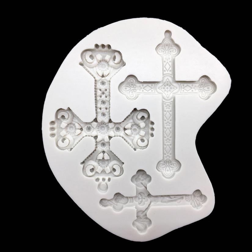 Cruz molde de silicone sugarcraft chocolate cupcake cozimento molde fondant bolo ferramentas de decoração