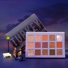 FOCALLURE Go purpurina de viaje paleta de sombra de ojos profesional polvo brillante alta pigmentación fácil de usar paleta de sombra de ojos