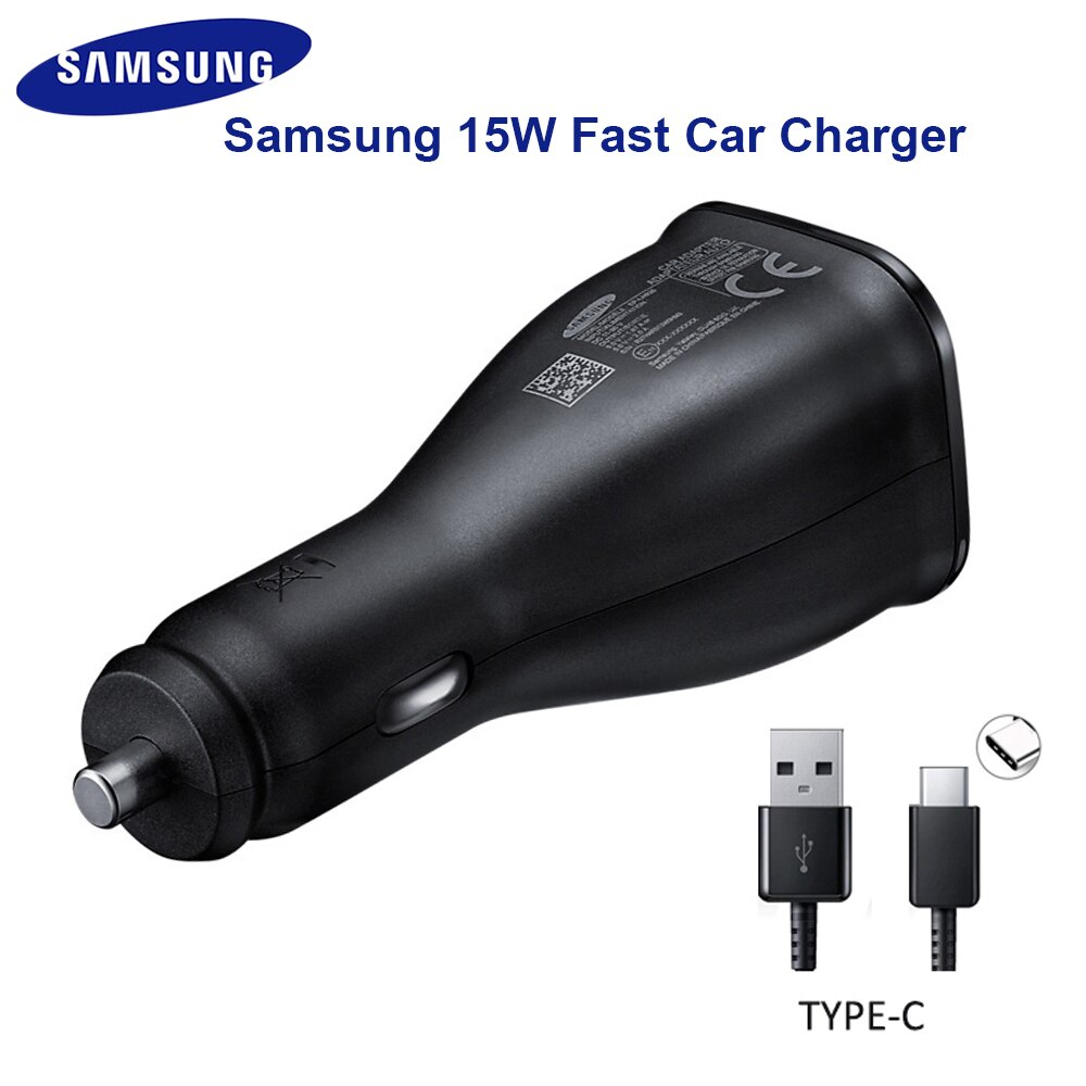 Оригинальная Адаптивная Автомобильная Быстрая зарядка 15 Вт для Samsung Galaxy S8 S20 Ultra S9 S10 + S20 + Note8 Note5 S3 S7 S6 Edge A750 A8
