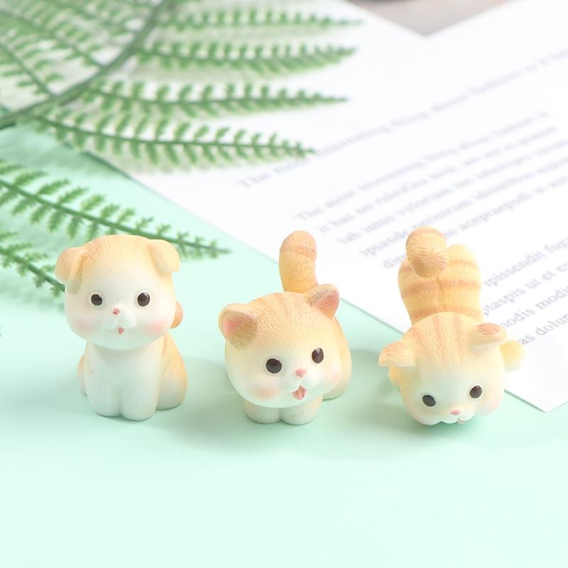 Kitten Pet Cat Small Statue Figurine Crafts Children Figure Ornament Miniatures Home Decoration