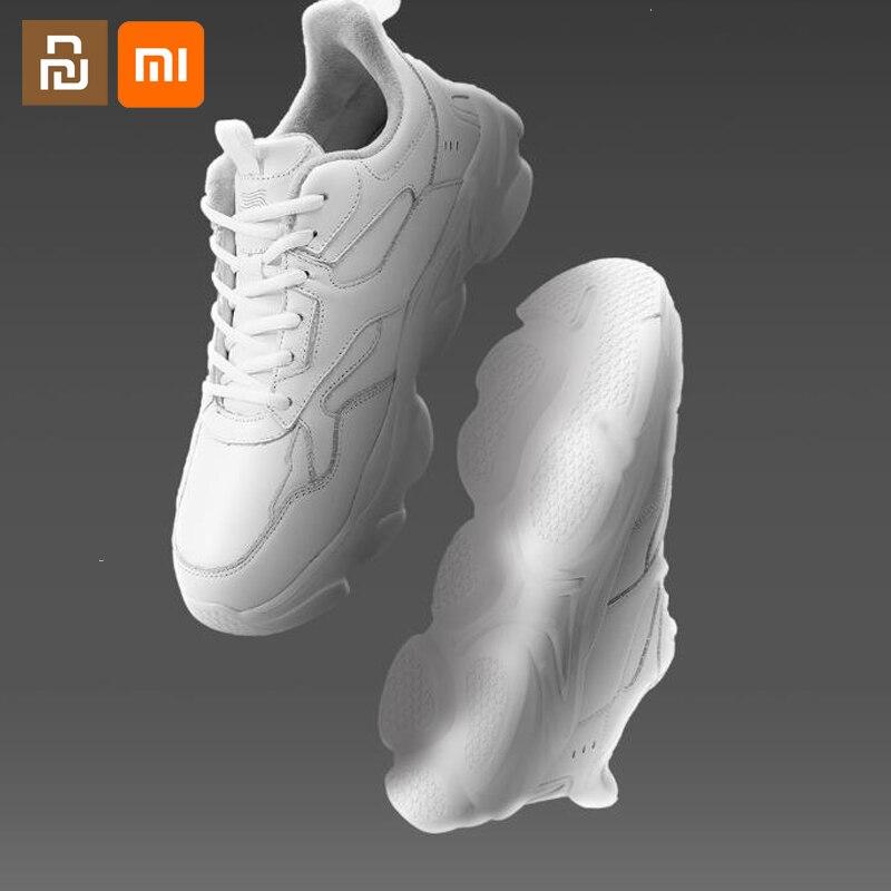 Aerogel à Prova de Frio Masculinos e Femininos Leves à Prova de Frio Youpin Couro Velho Sapatos Pequenos Brancos Esportivos