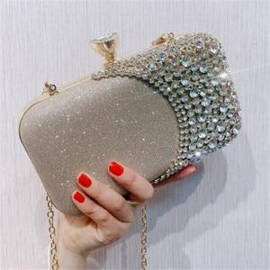 2021 Women Diamond Evening Clutch Bags Bling Patchwork Banquet Wallets Wedding Dinner Bags Fashion Messenger Purses and Handbags