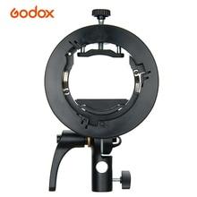 Portable Godox S2 Flash S-type Holder Speedlite Bracket with Bowens Mount for Godox V1 V860II TT350 AD400Pro Speedlite Flash