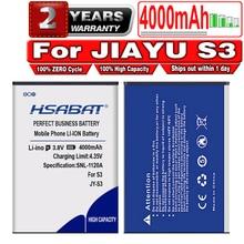 HSABAT Free Shipping 100% Brand New 4000mAh High capacity JY S3 JY-S3 battery for Jiayu S3 Battery