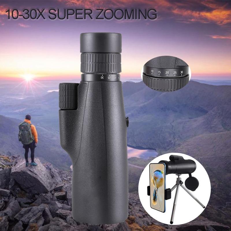 10-30 × 50 منظار أحادي العين قوي BKA4/FCM طويل المدى جيب اكتشاف التكبير نظارات تلسكوب للصيد التخييم السياحة