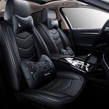 La cobertura completa Eco-cuero fundas de asientos de coche asiento de cuero PU fundas para bmw e39 e60 e61 f07 f10 f11 f18 g30 g31 e34