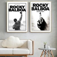 classic king boxing inspiring motivational rocky art canvas painting posters and prints movie boxing wall art for living room