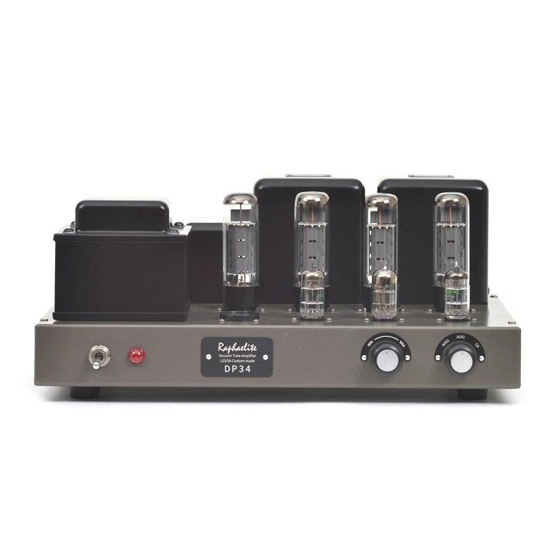 Raphaelite-amplificateur à tube poussoir EL34   Amplificateur Hifi dédié, sensibilité dentrée 180mV, sortie électrique 2*28
