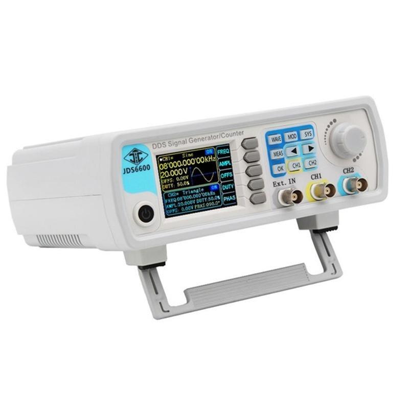 Enchufe UE Jds6600-60M generador de señal de 60Mhz Control Digital doble canal Dds función generador de señal medidor de frecuencia arbitraria