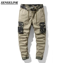 Summer New Khaki Camouflage Print Men Cargo Pants Casual Loose Outdoor Tactical Army Pants Multi-Poc