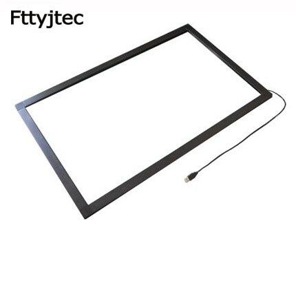 NEUE typ 32 zoll Infrarot IR touch screen 10 berührt IR-touch rahmen overlay 10 touch punkte Stecker und arbeitet