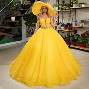 Dubai Yellow Evening Gown Prom Dresses Custom Made Turkish Middle East Ball Gown 2020 Women Pageant Party Gowns Kaftan Vestidos