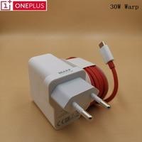 Оригинальное зарядное устройство OnePlus 8pro, ЕС адаптер Warp Charge, USB Type-c кабель для быстрой зарядки 30 Вт для OnePlus 7T 7Pro 6 6T 5 5T 3 3T