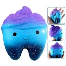 Besegad Kawaii Squishy Jumbo карикатура зубцы розыгрыши игрушки сжимающие антистресс медленное сжатие торта дешевые сжимаемые
