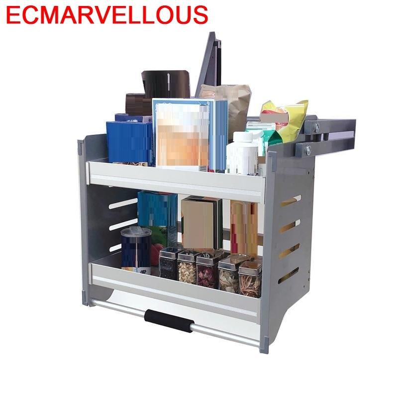 Organizador de cestas y Accesorios de acero inoxidable Para cocina, estante colgante,...