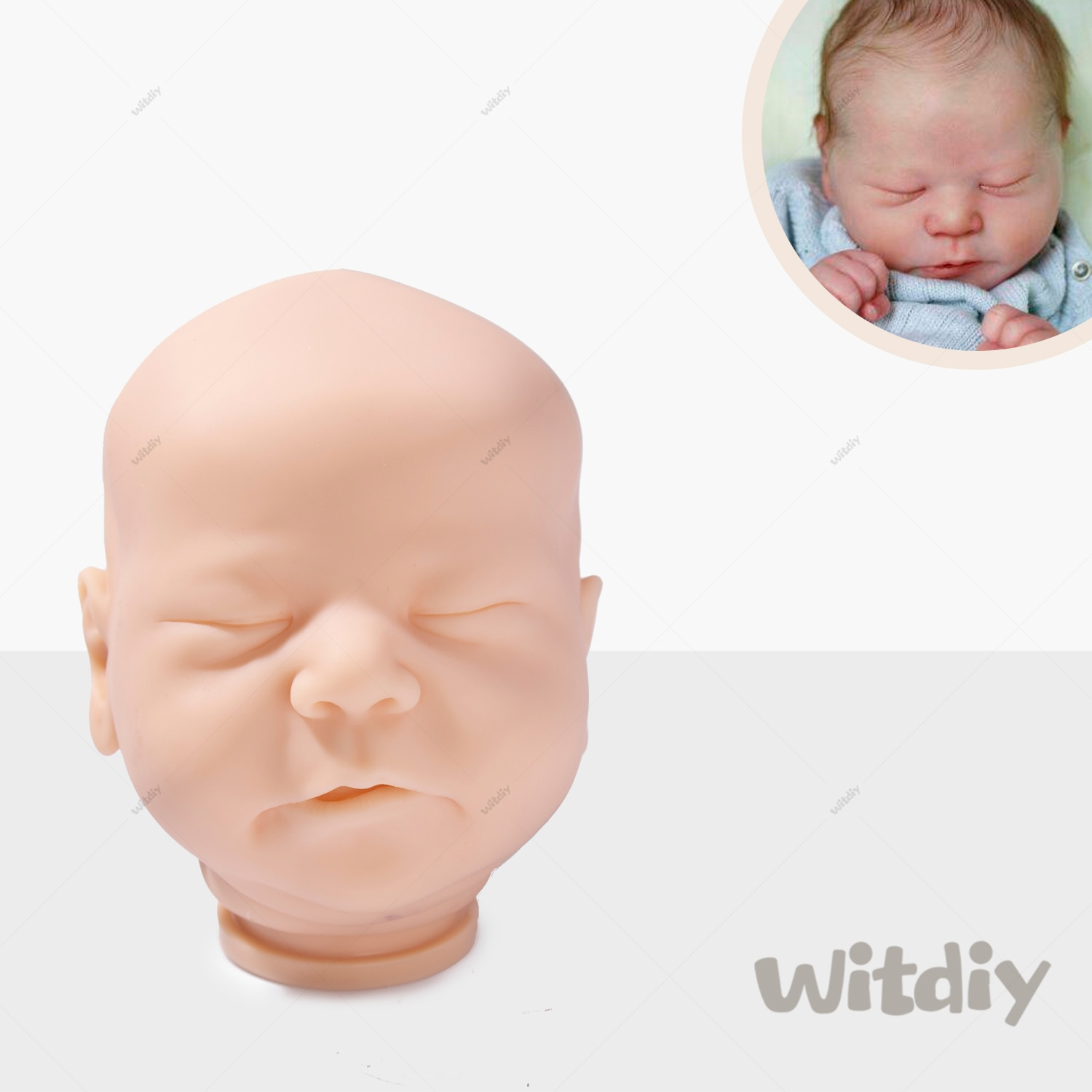 Witdiy Chase 50CM Reborn baby doll kit Unpainted reborn kit lifelike kit Reborn doll kit blank parts