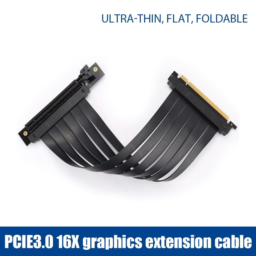 PCI-E 3.0 16X بطاقة موسع الرسومات قاعدة عمودية ATX حافظة مرنة تمديد ميناء موصل كابل بطاقة الناهض لمنجم BTC ETH