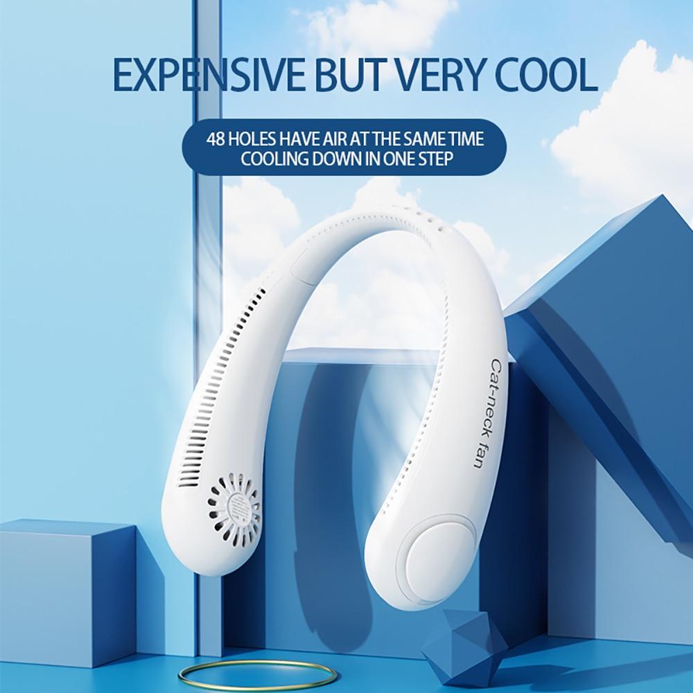 Mini ventilador de cuello de verano Xiaomi, ventiladores deportivos silenciosos recargables USB...