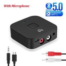 Bluetooth 5.0 Receiver aptX LL Mic 3.5mm AUX/RCA HIFI Car 10m Wireless Music Audio RAC Receiver For