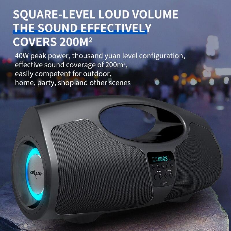40W Portable Wireless Bluetooth Speaker TWS Subwoofer Battery Capacity Big Four-core Power Waterproof Bank Function enlarge