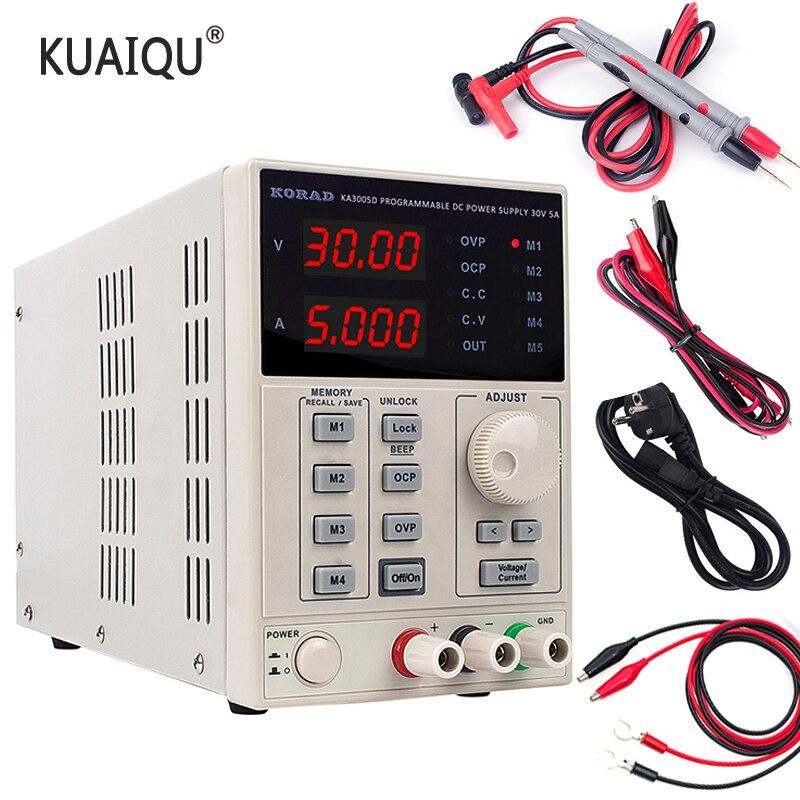KA3005D الدقة قابل للتعديل الرقمية للبرمجة تيار مستمر امدادات الطاقة مختبر التبديل امدادات الطاقة مختبر 30 فولت 5A 10A 60 فولت 110 فولت 220 فولت