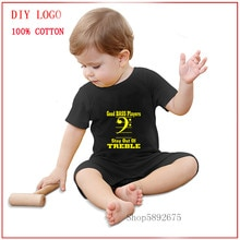 New born baby clothes romper Bass player Summer Unisex Baby Clothes girl and boy Short Sleeved Cotto