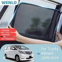 for toyota alphard 2nd 2009 2014 front windshield car sunshade side window blind sun shade magnetic visor outdoor mesh curtain
