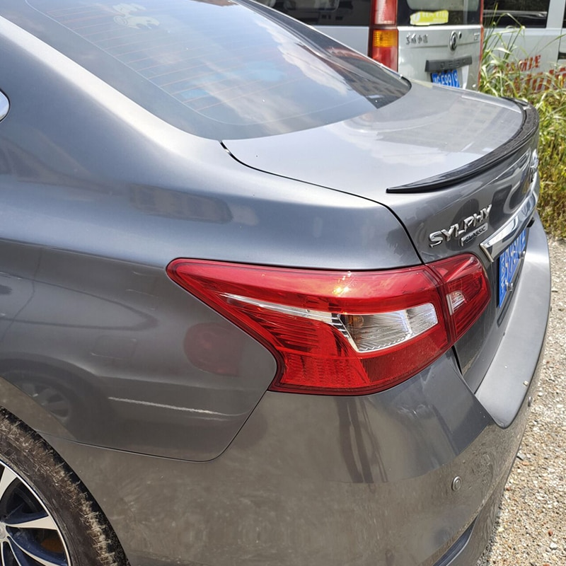 For Accessories Spoiler NEW OLD Nissan Sentra SYLPHY Car Trunk PU Plastic Rear Lip Wing Tail Body Ki
