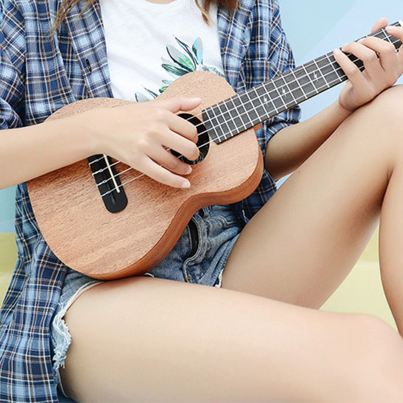 Original Ukulele Solid Mahogany Accessories Body Kit Small Guitar Olid Wood 26 Inch Classical Mute Guitarra Instruments ZZ50YL enlarge