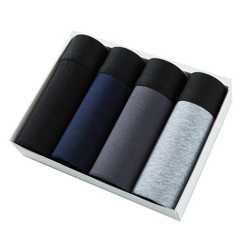4pcs Men's Panties Cotton Boxer Man's Underwear Men Gay Sexy Men's Underpants Boxershorts Men's Shor
