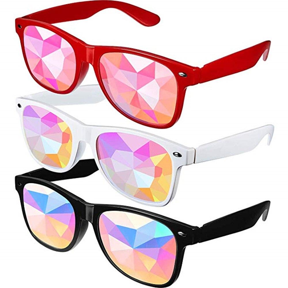 1 Uds final gafas de Calidoscopio-Arco iris EDM Rave luz difracción Festival gafas borde corte Bug ojo