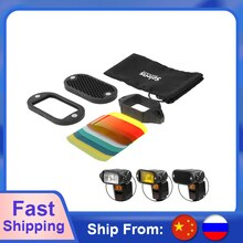 Selens sept couleurs Speedlite filtre nid dabeille grille avec élastique magnétique pour Yongnuo Canon Nikon Flash accessoires Kit