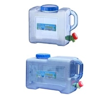 self driving portable water tank container 5812l car driving camping hiking pc thickened water bucket container with faucet