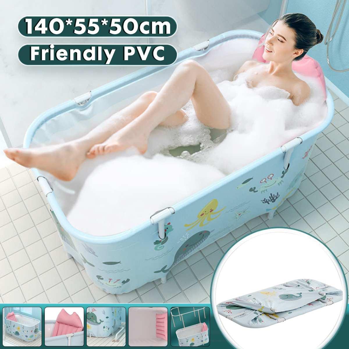 المحمولة للطي حوض الاستحمام الكبار الأطفال حمام سباحة كبير حوض استحمام بلاستيك دلو حمام العزل الاستحمام حوض الاستحمام 120/140 سنتيمتر
