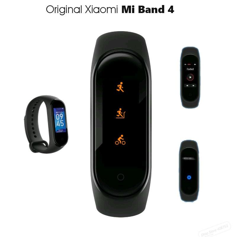 Original Xiaomi Mijia Band 4 Smart Bluetooth 5,0 pulsera de Fitness AMOLED Color pantalla táctil música AI ritmo cardíaco