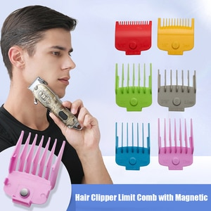 6pcs Hair Clipper Limit Comb with Magnetic Trimmer Guide Attachment Hair Clipper