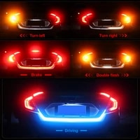 multicolor ice blue red yellow white led strip rear trunk tail light car brake turn signal flow reverse leds drl warning lights