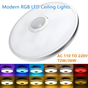 Modern RGB LED Ceiling Lights Home lighting 36W 72W APP bluetooth Music Light Bedroom Lamps Smart Ceiling Lamp+Remote Control