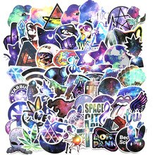 70 Uds pegatinas coloridas de calavera Cool Laser Star para cubierta de carrito de motocicleta Notebook Skateboard Cross Dope Sticker Pack calcomanías