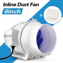 OUFENQI 6 inch haushalt kanal fan leistungsstarke belüftung 220V exhaust fan küche luft belüftung fan