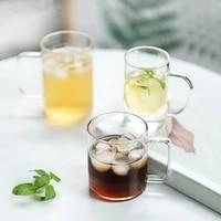 heat resistant crystal creative fashion transparent glass simple coffee glass drinking tea cup milkshake tazas barware ah50gc