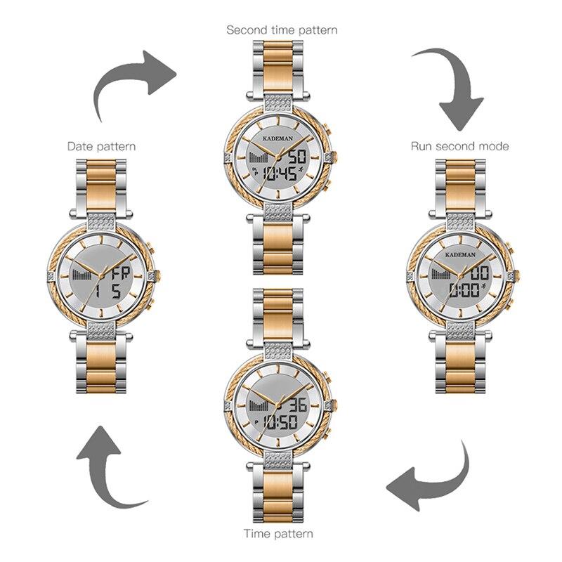 9080 Kademan Watches Women Fashion Business  Women Watch Ladies White Glod Stainless Steel Bracelet Woman Watch Top Brand enlarge