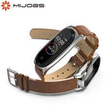 Strap for Xiaomi Mi Band 6 5 for Mi Band 4 Bracelet PU Leather Wrist Strap for Mi Band 3 Wristbands Pulseira Smart Accessories
