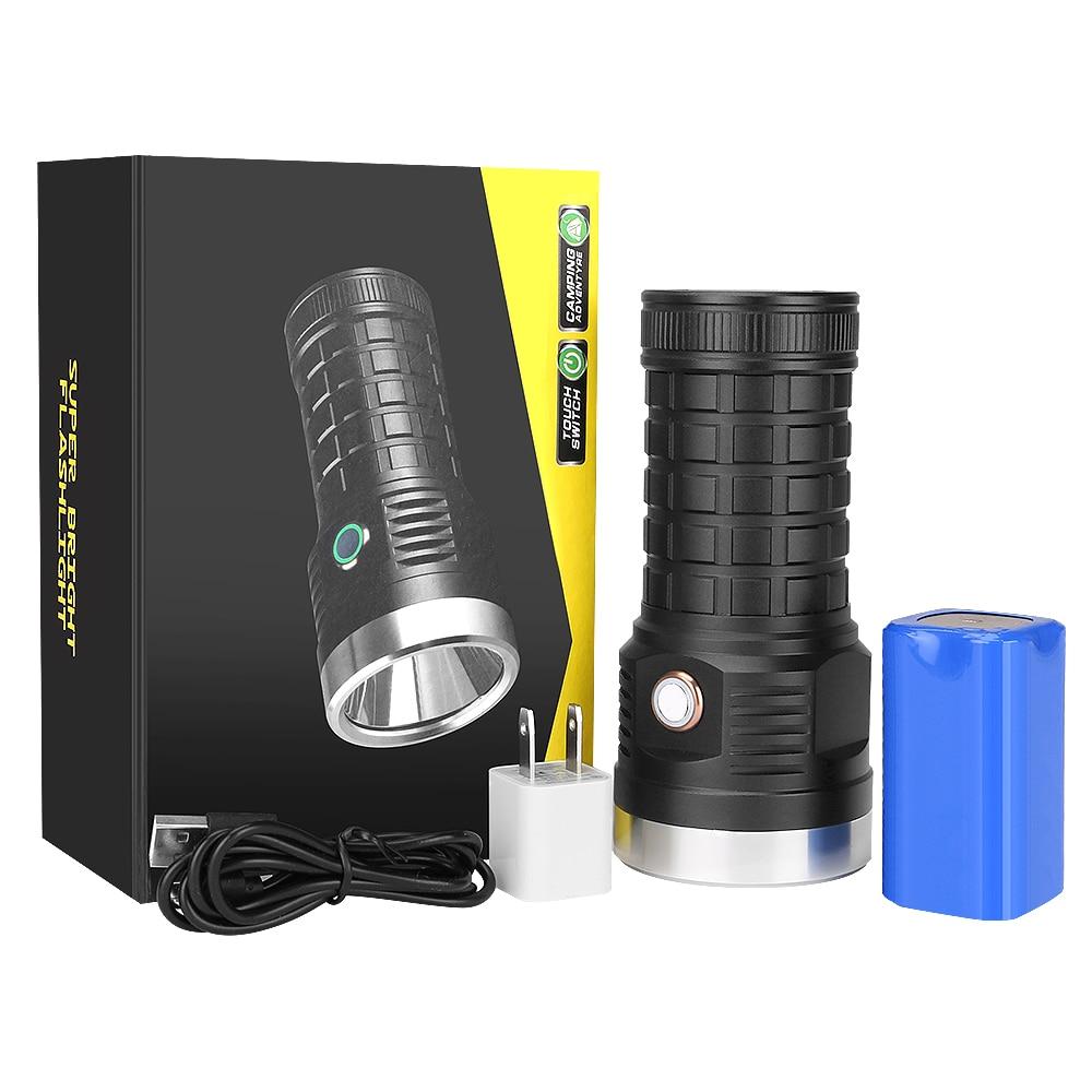 Linterna LED P70 de 2000LM, 5 modos de iluminación, linterna de trabajo, linterna de carga USB, linterna impermeable para Camping, lámpara de emergencia