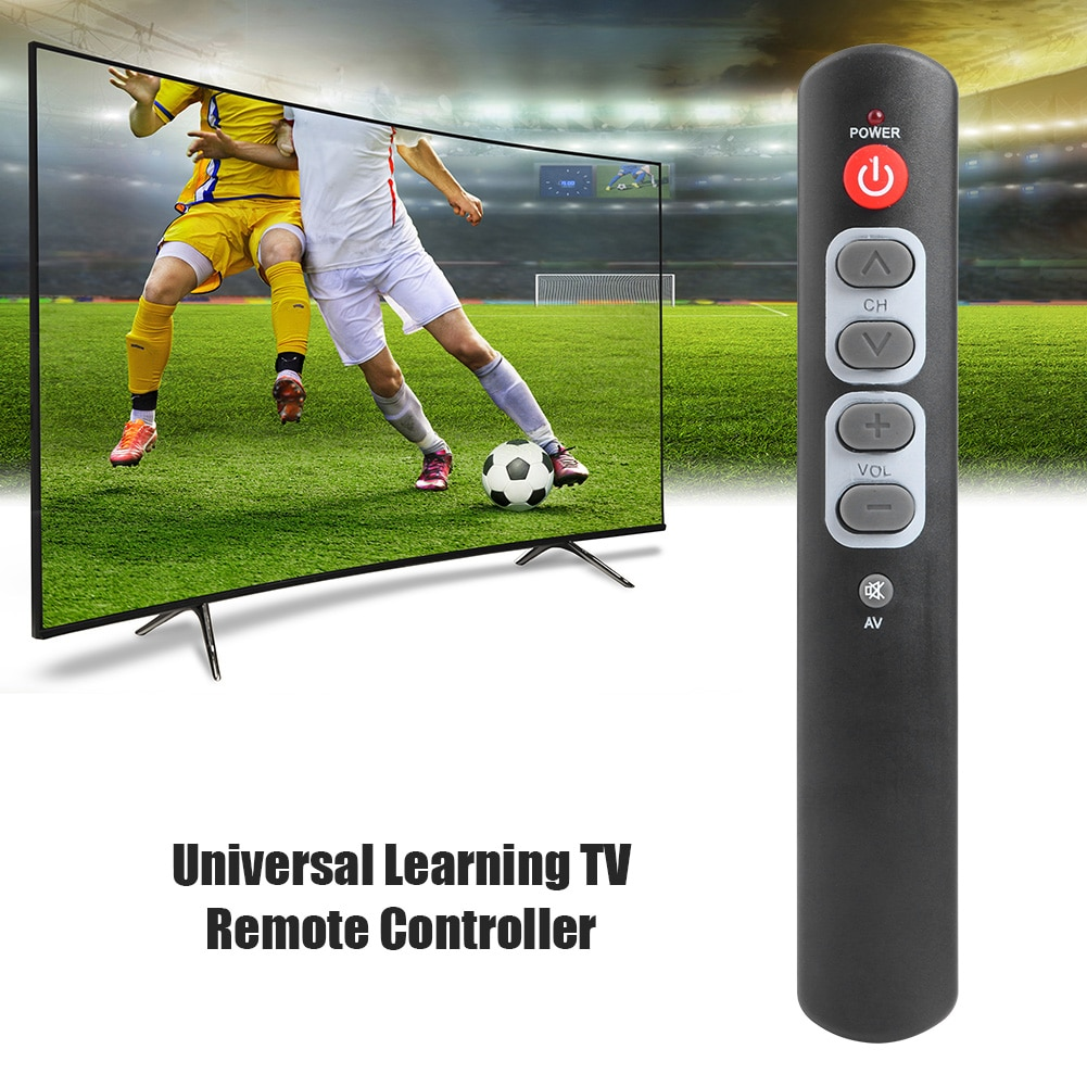 Universal 6 Big Button Learning Remote Control Copy IR Remote for TV STB DVD VCR Electronic Smart Home Accessories