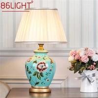86light ceramic table lamps copper modern luxury pattern desk light led besjdes for home bedroom