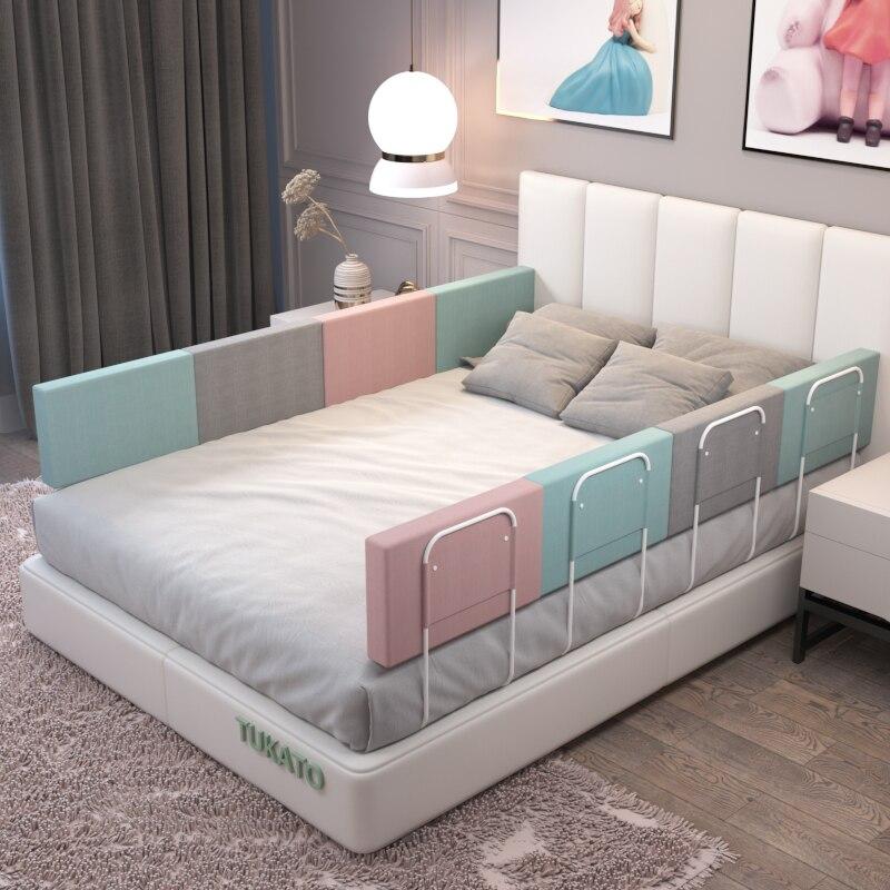 28 سنتيمتر ارتفاع سرير بيبي مصدات ارتفاع قابل للتعديل المضادة للتصادم الدرابزين سرير الأطفال سياج العام لينة بوابة سرير السكك الحديدية