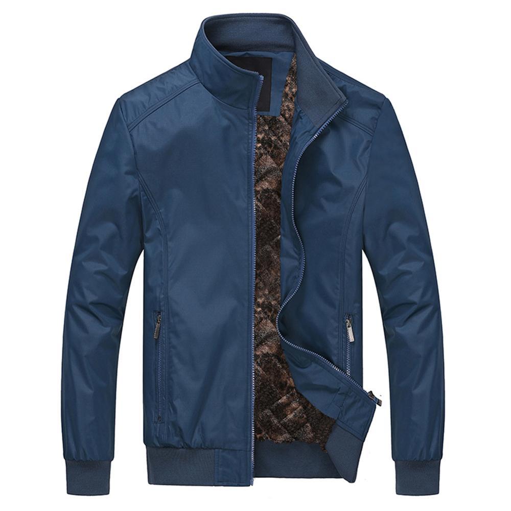 Allthemen осенние мужские куртки, пальто, мужские повседневные модные однотонные куртки с длинным рукавом, мужское приталенное пальто, верхняя ...