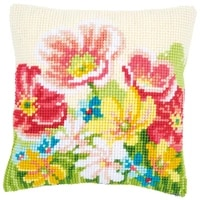 latch hook kits pillow diy handmade printed canvas cushion latch hook kits diy unfinished accessories flower