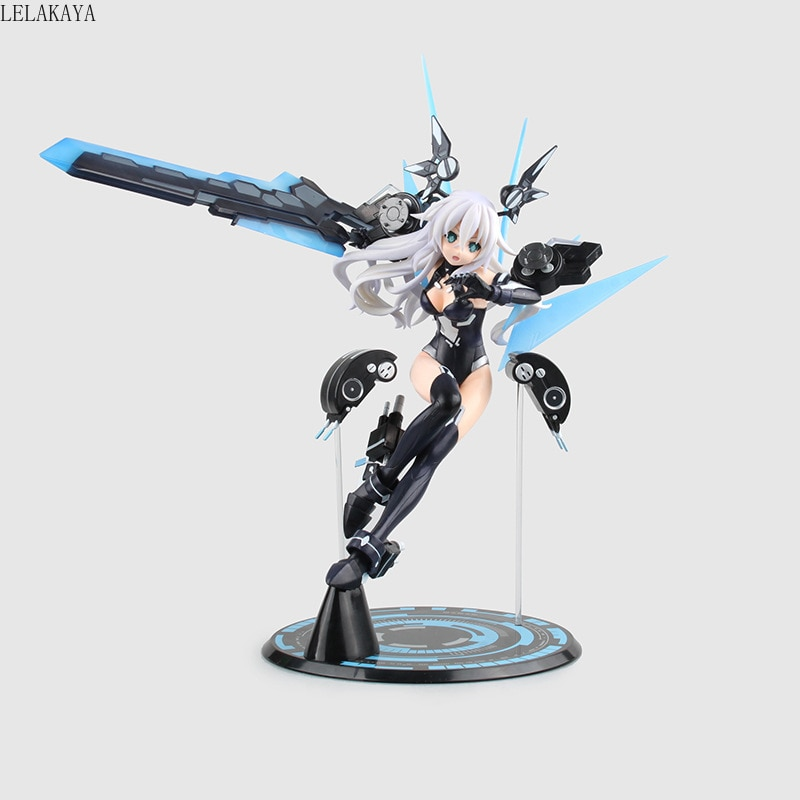 11 Anime Hyperdimension Neptunia Choujigen Game Neptune Noire Black Heart 1/7 scale PVC Action Figure Collection Model Toy New